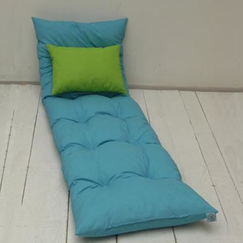 coussin bain de soleil floconn turquoise achat vente. Black Bedroom Furniture Sets. Home Design Ideas