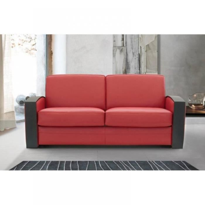 canap lit rapido molitor cuir rouge avec accou achat vente canap sofa divan cuir. Black Bedroom Furniture Sets. Home Design Ideas