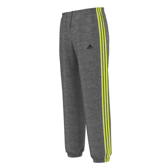 pantalon homme adidas performance gris et jaune gris gris achat vente pantalon de sport. Black Bedroom Furniture Sets. Home Design Ideas