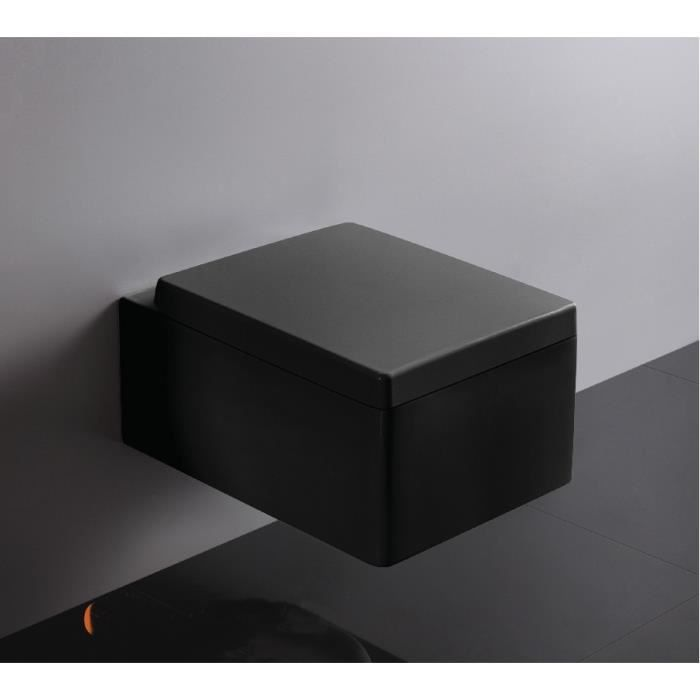 wc suspendu noir achat vente wc suspendu noir pas cher cdiscount. Black Bedroom Furniture Sets. Home Design Ideas