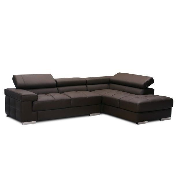 canap d 39 angle en cuir tom achat vente canap sofa. Black Bedroom Furniture Sets. Home Design Ideas