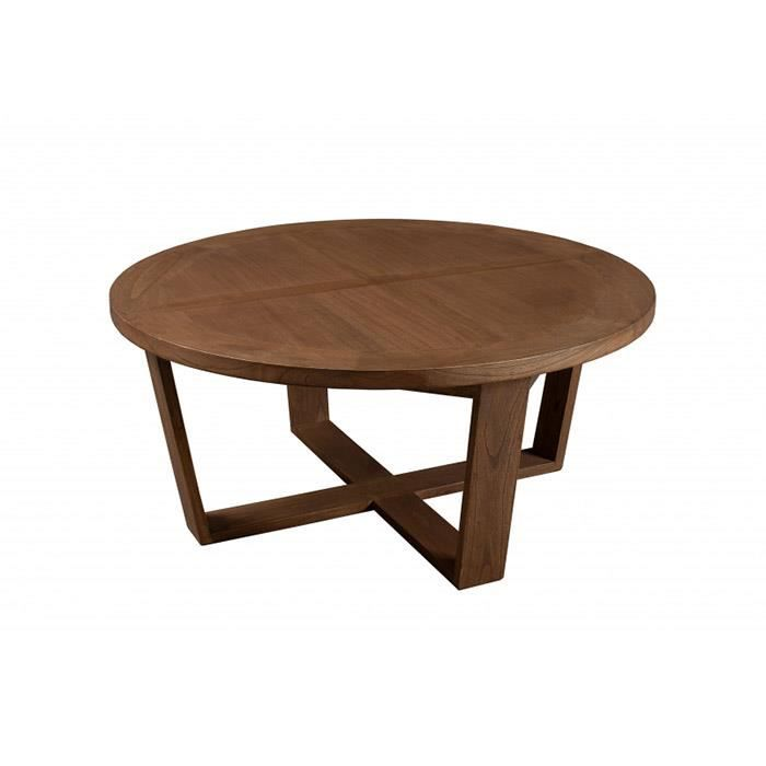 Table basse ronde viking 90 x 90 cm achat vente table basse table basse r - But table basse ronde ...