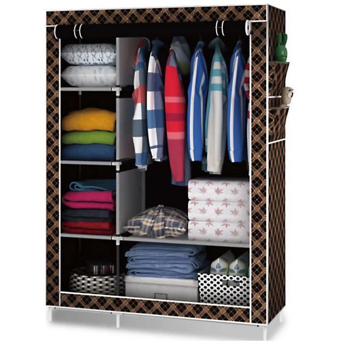 armoire de rangement armoire penderie en tissu garde robe. Black Bedroom Furniture Sets. Home Design Ideas