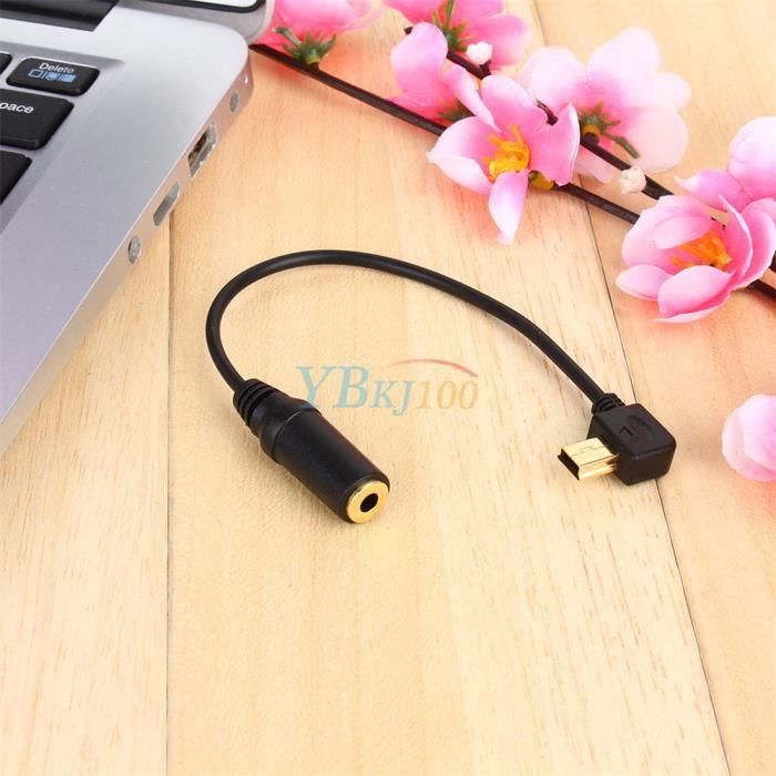 ALLONGE TREPIED Mini USB Cord 3,5 mm Mic câble adaptateur de micro