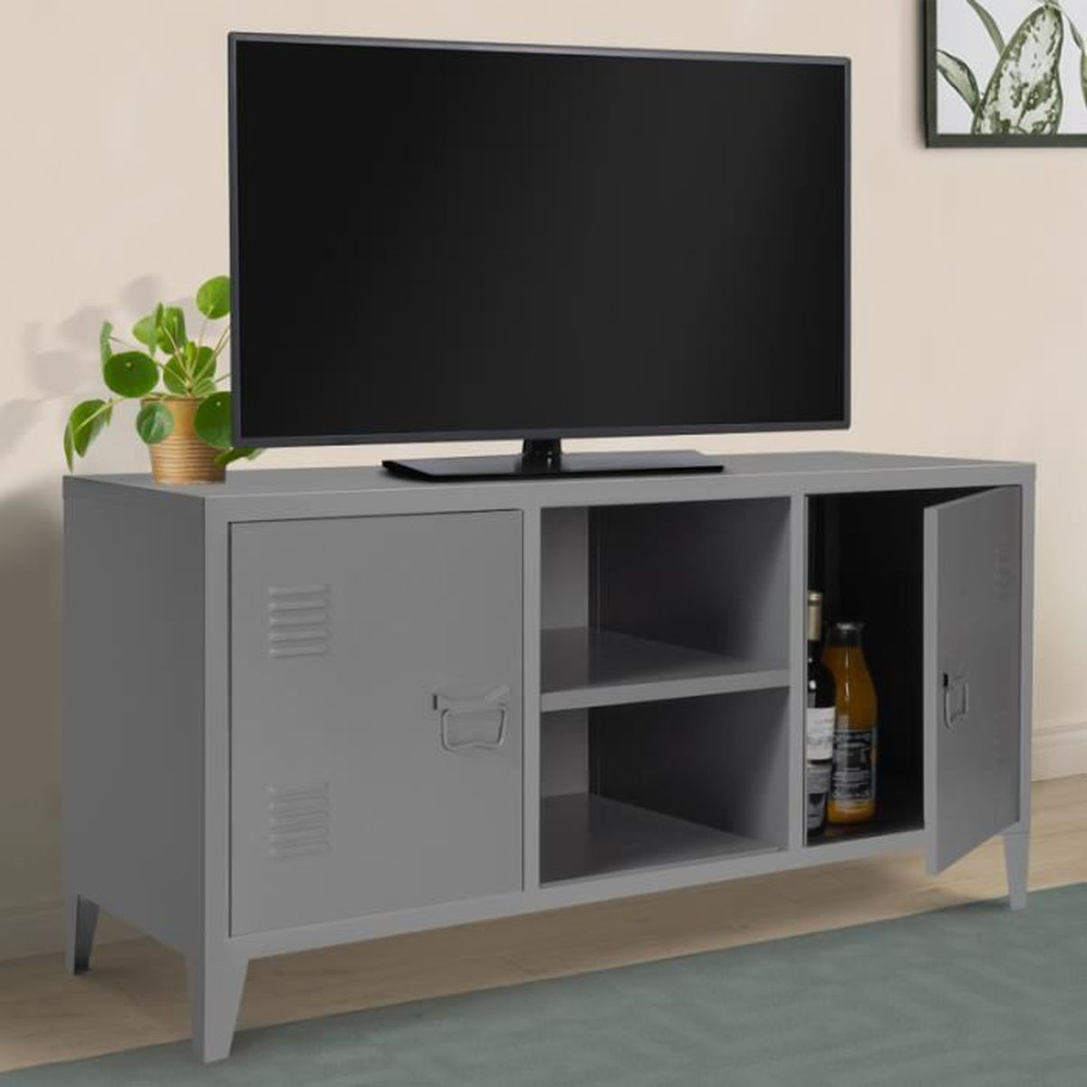 meuble tv industriel metal