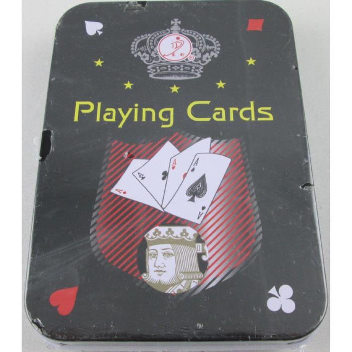 Noir Mat Plastique Étanche cartes à jouer-Table pont jeu de poker-Neuf
