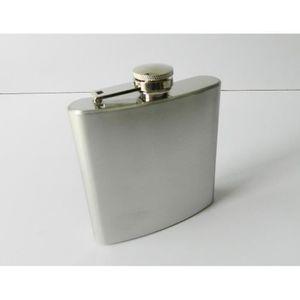 FLASQUE Flasque fiole inox à alcool inox 15cl / Flacon whi