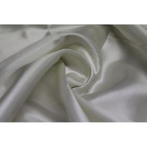 TISSU Tissu Satin Polyester Ecru -Au Mètre