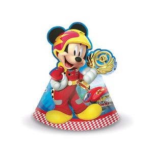 Piñata 6 Chapeaux de fête Mickey Racing