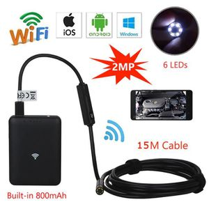 ENDOSCOPE NUMÉRIQUE WiFi BOX Endoscope Serpent Borescope Inspection HD