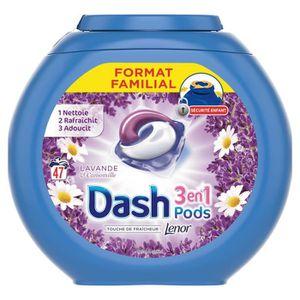 LESSIVE Dash3 En 1 Lessive liquide Lavande et Camomille -