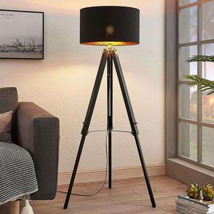 LAMPADAIRE Lampadaire Bois 'Triac' en bois pour salon & salle