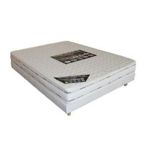 ENSEMBLE LITERIE Sommier + matelas mémoire de forme - 140x190 cm