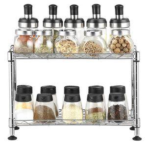 4 Tier Spice sauce Rack bocal//bouteille de stockage étagère de cuisine porte d/'armoire