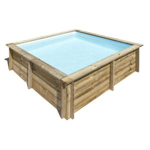PISCINE SUNBAY Piscine bois carrée City - 2,25 x 2,25 x H