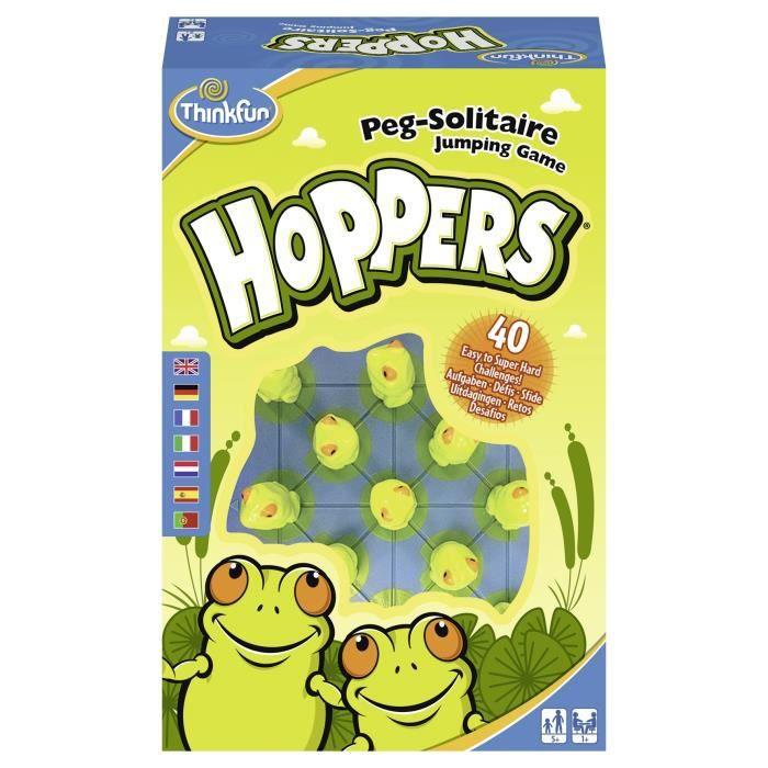 HOPPERS Jeu de société Ravensburger - 1 joueur et plus - 5 ans et +