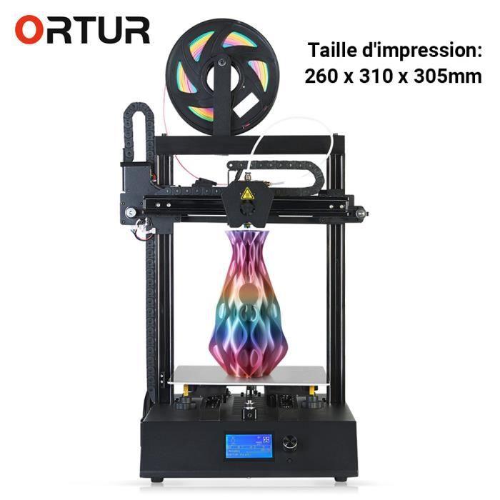 Imprimante 3D Ortur 4 V2 Guide linéaire intégré à deux axes Assemblage rapide Imprimante 3D à 260 x 310 x 305 mm Eu plug