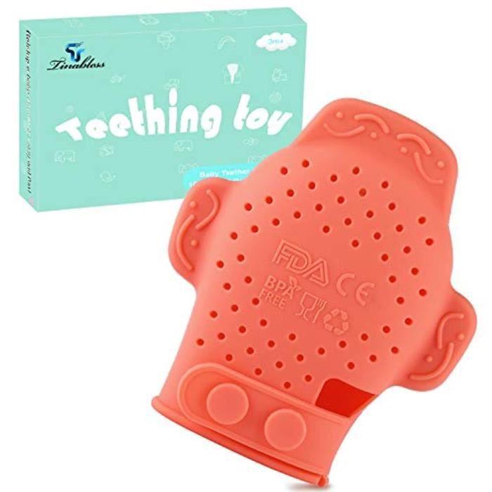 Poupon P3SFH , Sans BPA, Mitten Natural Organic Teether Jouet pour les nourrissons et les enfants en bas âge, restez sur Babys main,