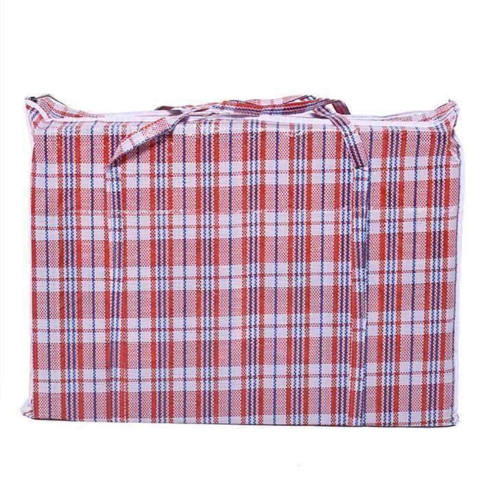 Rangement Vêtements Grande Capacité Sac Cabas Multi-usages À Fermeture Zippée - ROUGE