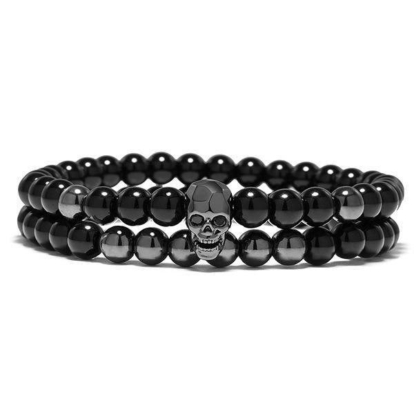 Forme De Perlé Bracelet Hommes _Noir