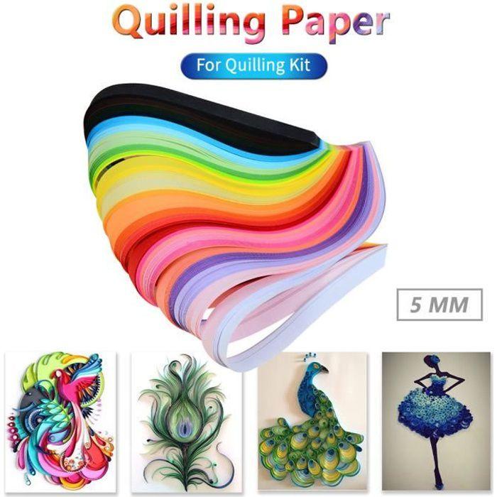 260PCS 26 couleurs Quilling bandes papier Quilling 5mm pour Quilling Kit Noarlall127