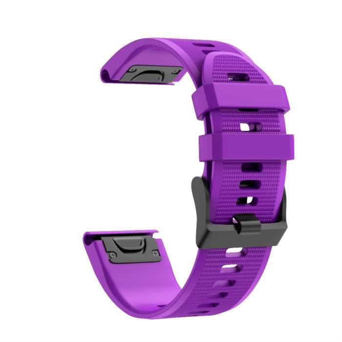 bracelet de montre vendu seul Bracelet de montre en silicone à libération rapide pour Garmin Fenix 6X - Fenix 6XPro
