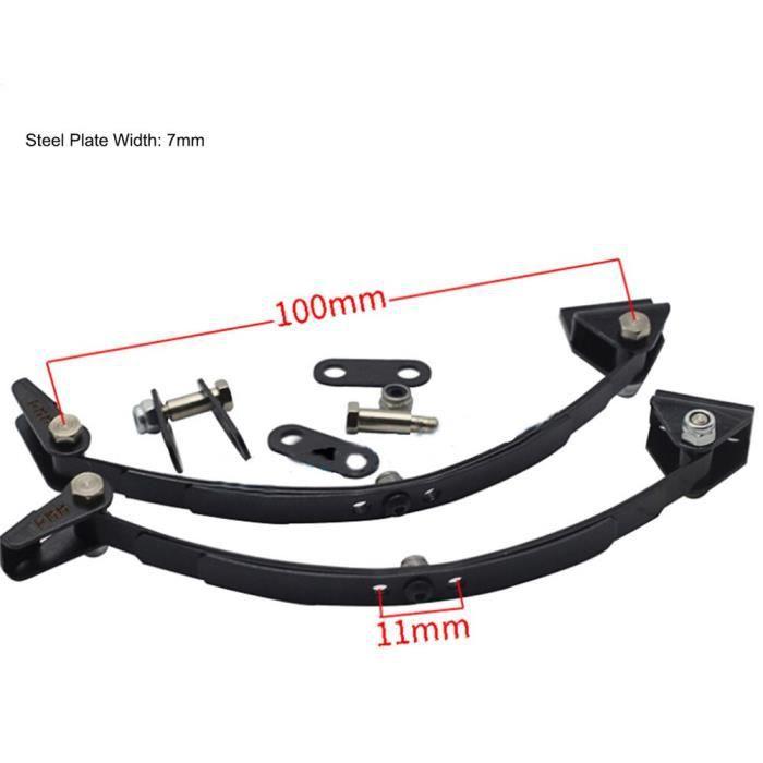 Plaque en acier de Suspension avant et arrière, ressort absorbant, pour camion remorque Tamiya 1-14, métal Durable, [567D7BB]