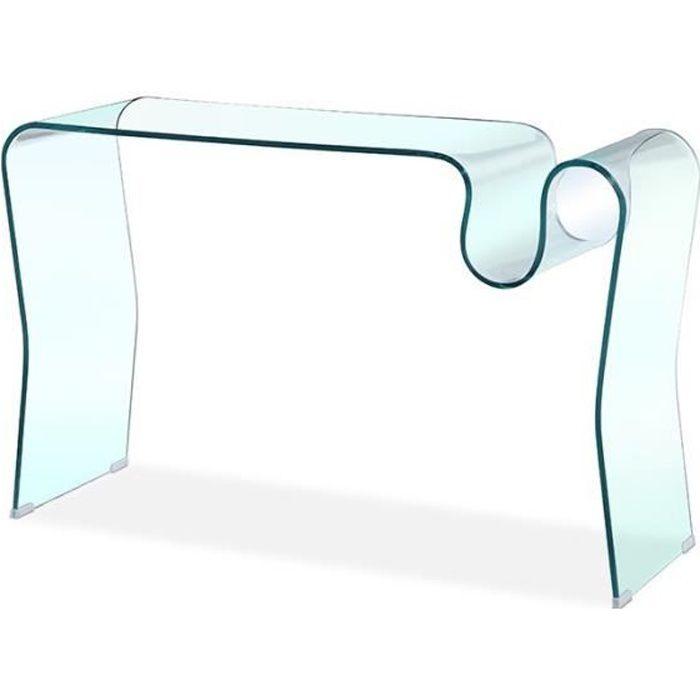 Console en verre design Laurie