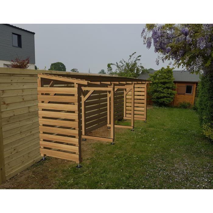 Abri Jardin 6m - Couvert - Cl3 Marron - Jardinatoire