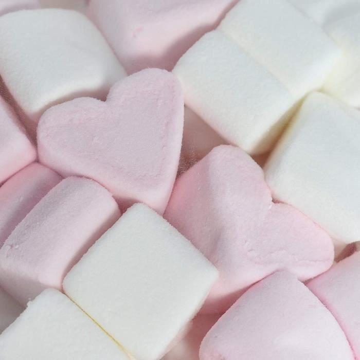 1 kg WeddingTree Guimauve Coeurs - bonbons doux pour la Saint-Valentin - meilleure qualité de mousse de sucre - rose et blanc -