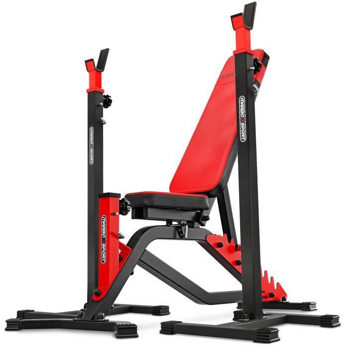 Marbo Sport Set MS1 - Banc de musculation bilatéral MS-L101 + support d'haltères réglable MS-S101