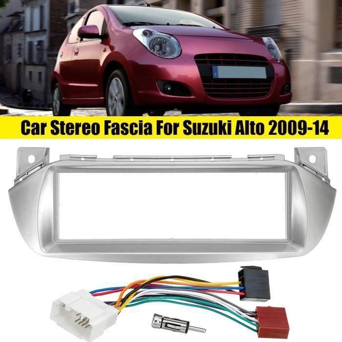 Kit Montage Adaptateur Cadre de Radio Façade Autoradio 1 DIN Pour Suzuki Alto 2009-2014 Wir2