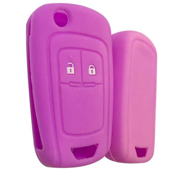 Coque clé,Clé à clé pour Opel Insignia Vauxhall En Silicone, etui à clé pour Buick Regal Lacrosse, Encore Excelle - Type purple