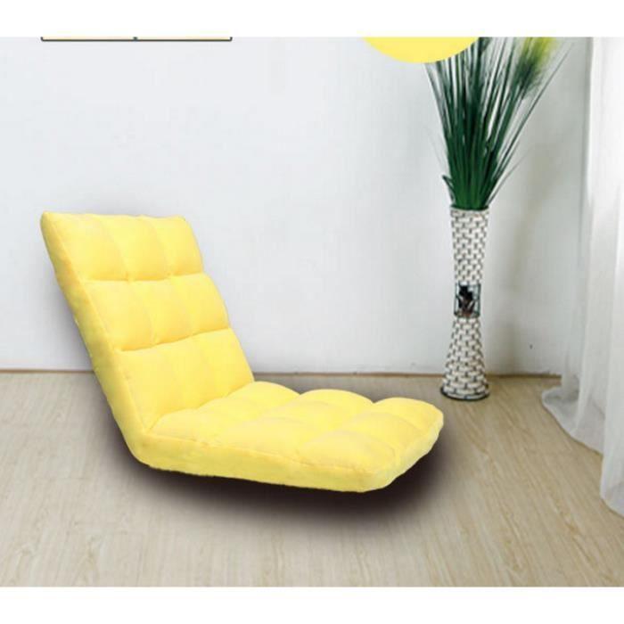 Pouf De Mode Tatami Pliant Unique Petit Canapé-lit Ordinateur Chaise étage Balcon Canapé 95*35*13 CM-Jaune