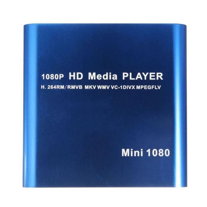 LESHP MINI Lecteur DVD portable 1080P MKV -- Port USB - bleu