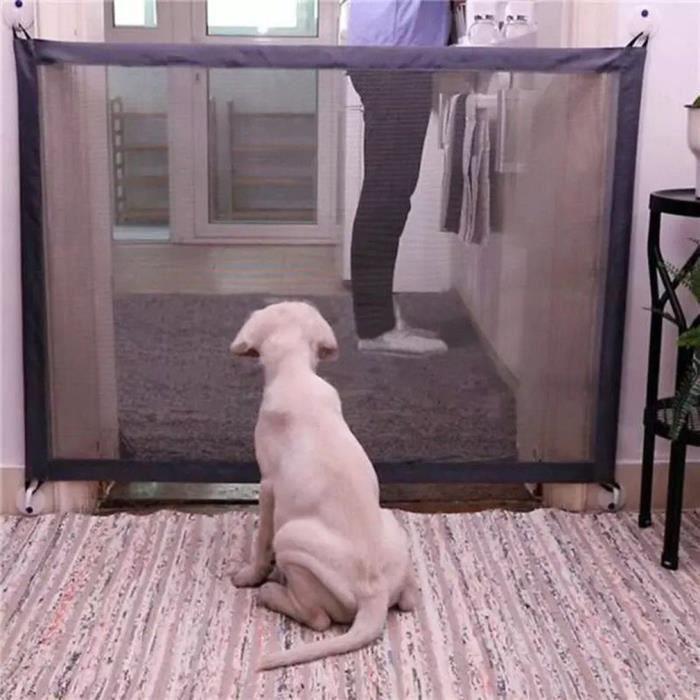 180*72cm Clôture pour animaux intérieur barrière filet de chien chat barrière d'escalier - longeur réglable