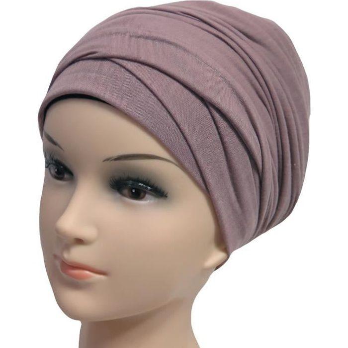 Hijab Femme Foulard Écharpe Turban Châle Islamique, Tissu en Jersey Premium (Mauve)
