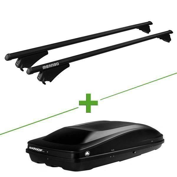 Pack barres et coffre de toit MBO Tiger black XL + Wabb L pour Land rover Range Rover Sport 5 portes - 3665597026474
