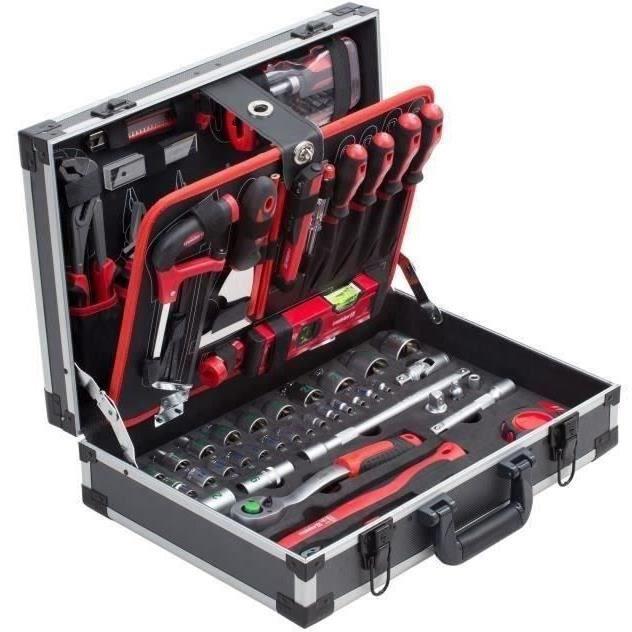 MEISTER Coffret à outils de 131 pieces - Aluminium
