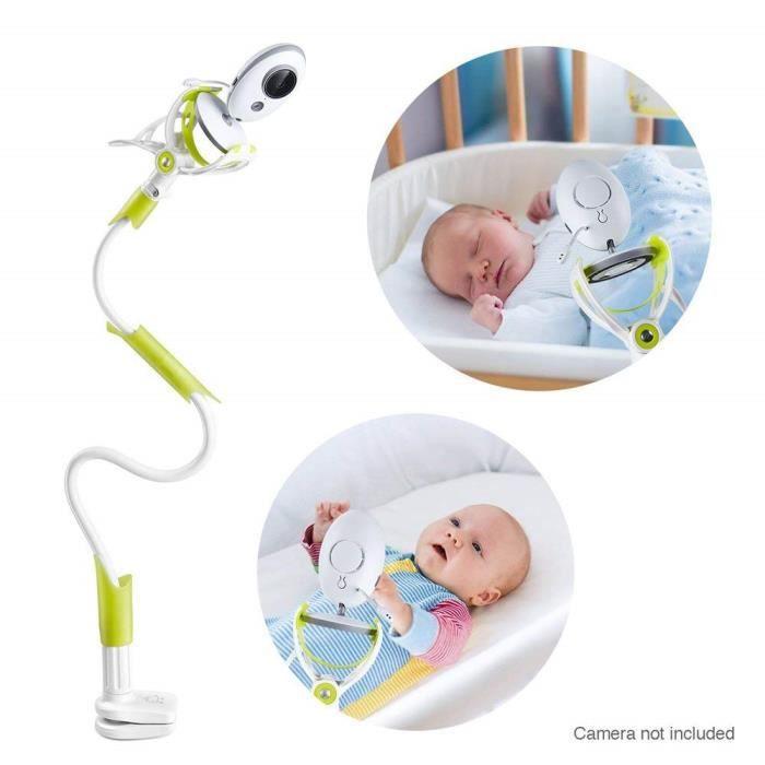 Support de caméra pour bébé universel-Support de caméra flexible pour pépinière Compatible avec la plupart des moniteurs de bébé Ver