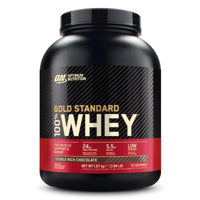 Gold Standard 100% Whey Protéine 2,26kg CHOCOLAT avec Whey Isolate 73 Portions