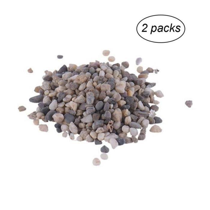 2 sacs en pierre naturelle de galets de ornements de pour la maison d'aquarium BUFFET - BAHUT - ENFILADE