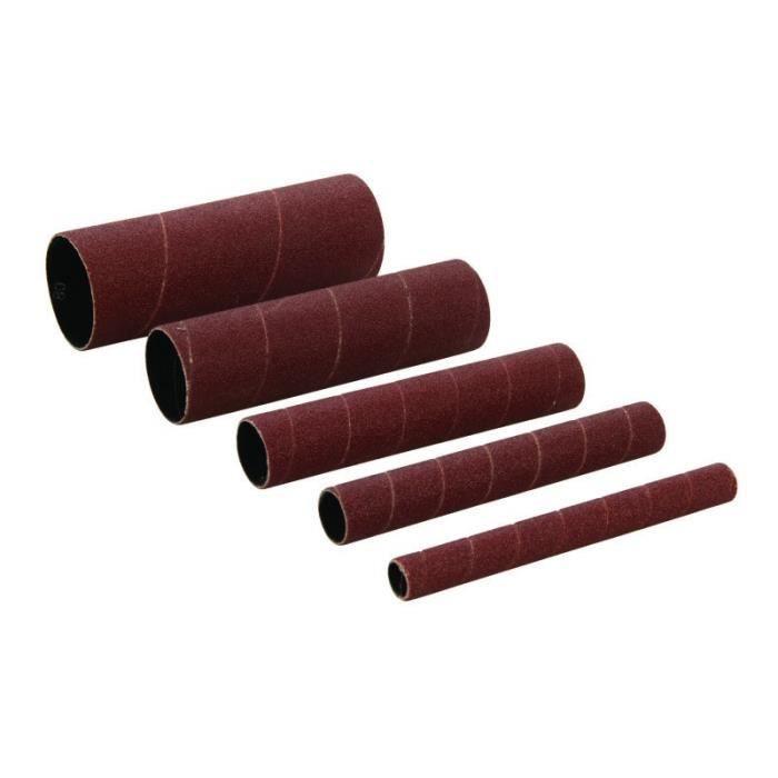 Manchons de ponçage en oxyde d'aluminium, 5 pcs TTSS80G5PK, Grain 80, 5 pcs