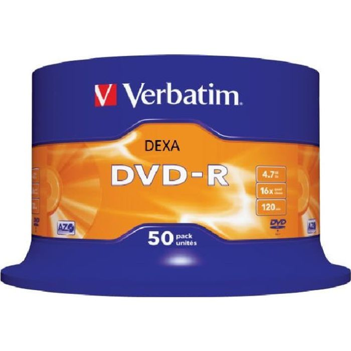 50 DVD-R Verbatim CakeBox