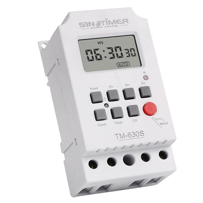 1 Pc Programmable Minuterie Affichage Numérique Interrupteur De Cycle Deuxième Contrôle Contrôleur Puissance pour Lampe CAFETIERE