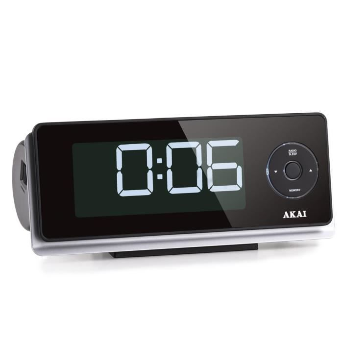 akai ar270 radio r veil avec projection de l 39 heure radio r veil avis et prix pas cher cdiscount. Black Bedroom Furniture Sets. Home Design Ideas