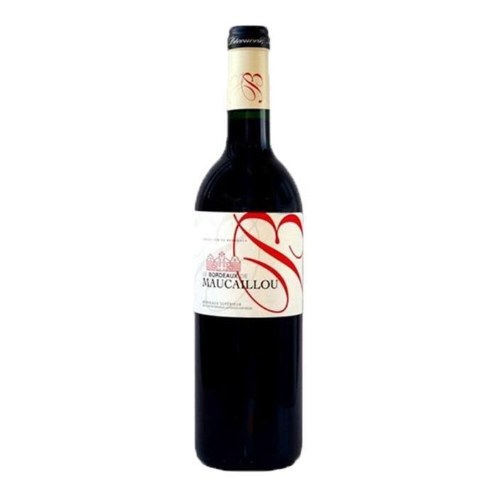 VIN ROUGE 6x  Bordeaux de Maucaillou  2016 du Château de Mau
