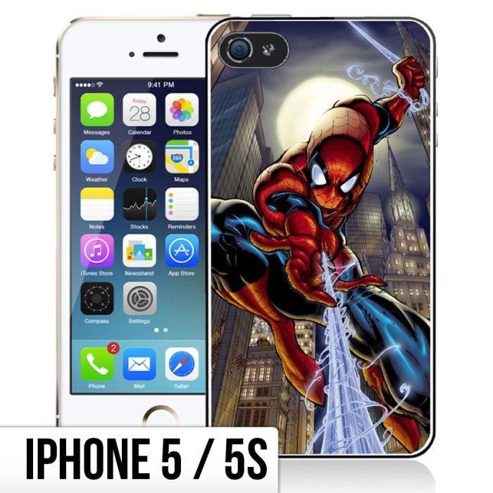coque iphone 5 5s spiderman comics
