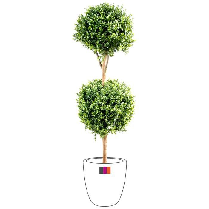 Buis artificiel double boule 1m40 plante ext rieur achat for Table exterieur 1m