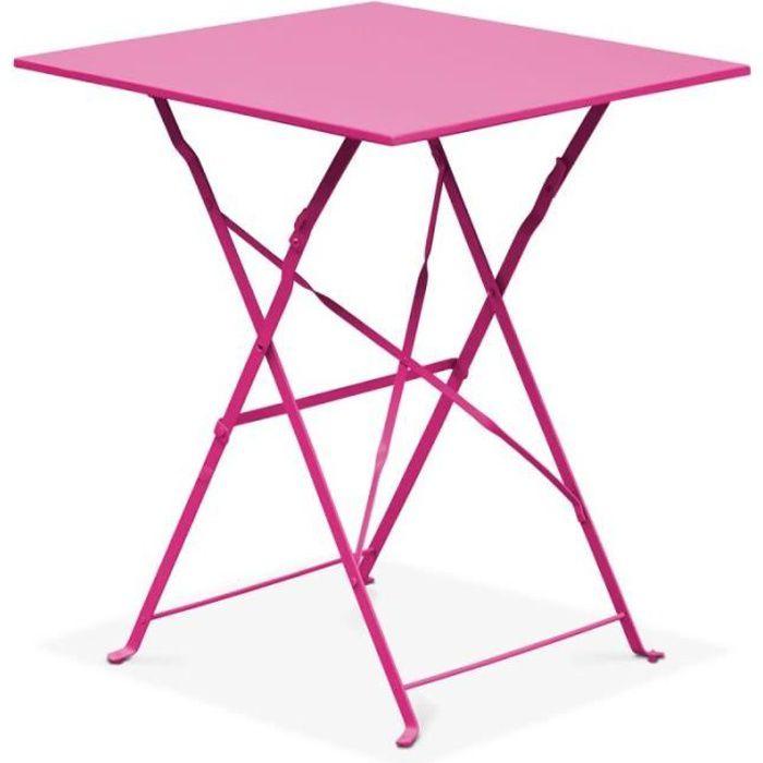 Table de jardin carrée - table bistrot pliante